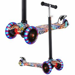 Scooters Kids Kick Scooter Adjustable Height Extra-Wide Deck