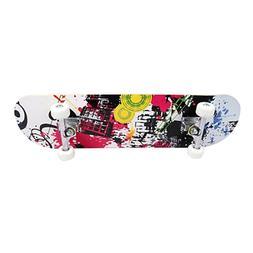 Skateboard Scooter for Kids 4 Wheels Skate Board Street Adul