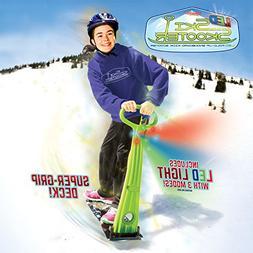 GeoSpace Original LED Ski Skooter: Fold-up Snowboard Kick-Sc