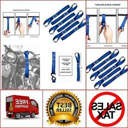 6PC Soft Loop Tie Down Straps Securing ATV, UTV, Motorcycles