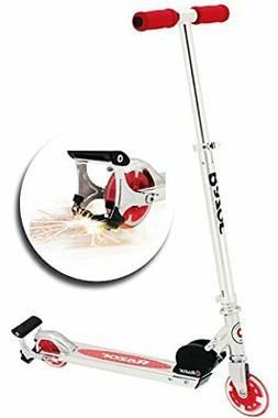 Razor Spark+ Kick Scooter with Light up Wheels, Red