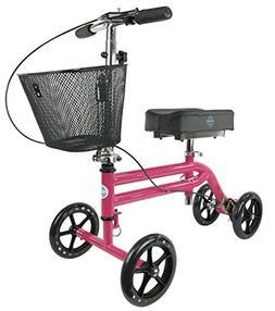 steerable knee scooter walker
