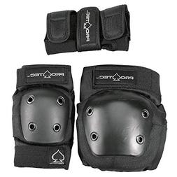 Pro-Tec Street Gear Jr 3 Pack, Black, YS