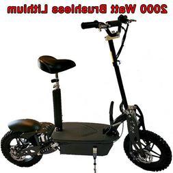 Super 1800 watt Lithium Brushless 48v Electric Scooter, worl