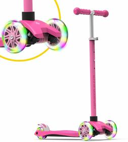 Swagtron K5 3-Wheel Kids Scooter with Light-Up Wheels Height