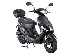 TaoTao ATM-50A1 BLACK 49cc Gas Automatic Scooter Moped w/ 10