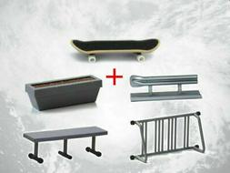 Tech Deck Fingerboard With Rail Finger Skate Board Park Ramp