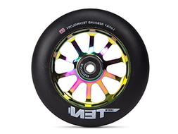 Lucky Scooter Ten Pro Scooter Wheel, Neo Chrome/Black, 110mm