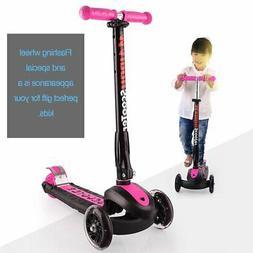 Three Flashing Wheels Children Scooter Gravity Steering Fold