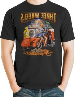 Three Wheeler Motorcycle T shirt Biker Trike Scooter Hogg Me