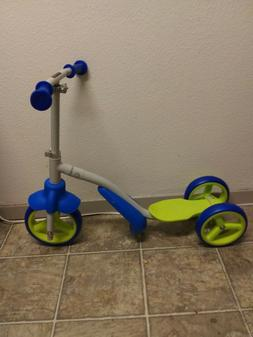 SWAGTRON toddlers ADJUSTABLE balance trike that easily turns