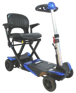 Transformer Automatic Folding Travel Scooter BLUE with Light