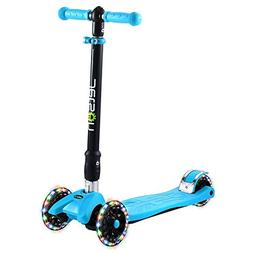 Jetson Twin Folding 3-Wheel Kick Scooter with Light-Up Wheel