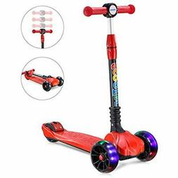 UHINOOS Kick Scooter For Kids&ampToddlers-4 Adjustable Heigh