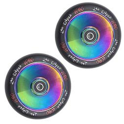 Ten-Eighty Ultra 110mm Solid Stunt Scooter Wheels  - Neo Chr