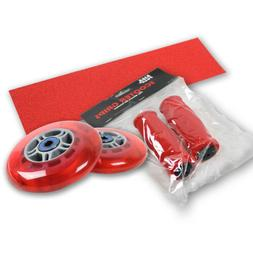 Upgrade Pack for Razor Scooter Red Wheels, Handle Grips, Gri
