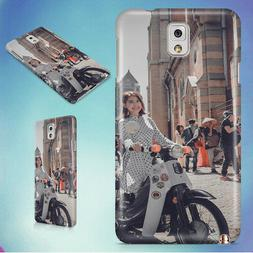 VINTAGE GIRL WOMAN SCOOTER HARD CASE FOR SAMSUNG GALAXY PHON
