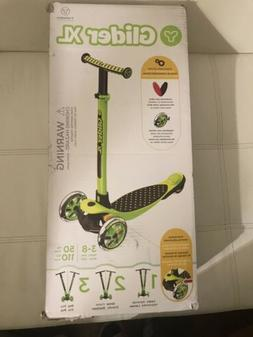 Yvolution Y Glider XL Deluxe 3 Wheel Scooter for Kids - Gree