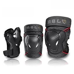 JBM Youth BMX Bike Knee Pads and Elbow Pads with Wrist Guard