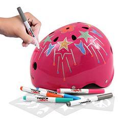 Wipeout Dry Erase Kids' Bike, Skate, and Scooter Helmet, N