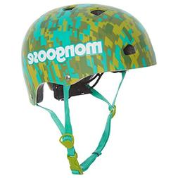 Mongoose Youth Logo Camo Grit Helmet, Teal Green Camo