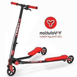 Fliker Yvolution A3 Air Y Fliker Kids Scooter - Black/Red