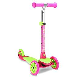 Zycom Zing 3 Wheel Scooter, Lime Green/Pink