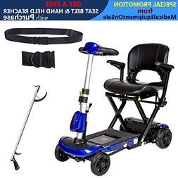 Drive ZooMe Auto-Flex Folding Travel Scooter, Blue, Model -